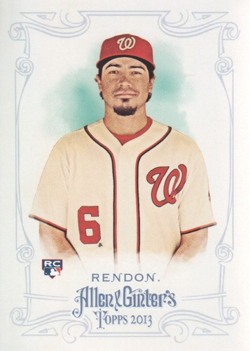 Photo of 2013 Topps Allen and Ginter #152 Anthony RendonRookie Card -- Nationals post-season