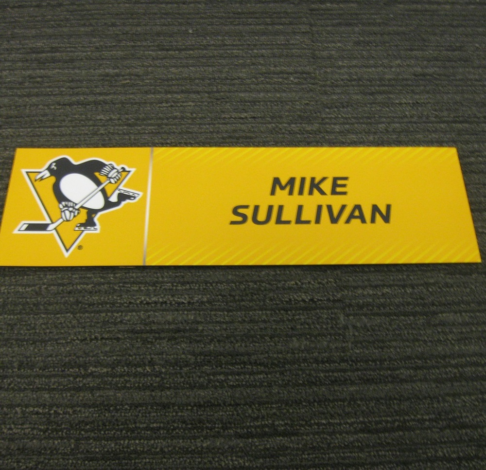 Mike Sullivan 2017 Stanley Cup Final Media Name Plate - Pittsburgh Penguins