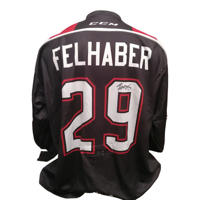 #29 Tye Felhaber 67's Game Worn Office Theme Jersey