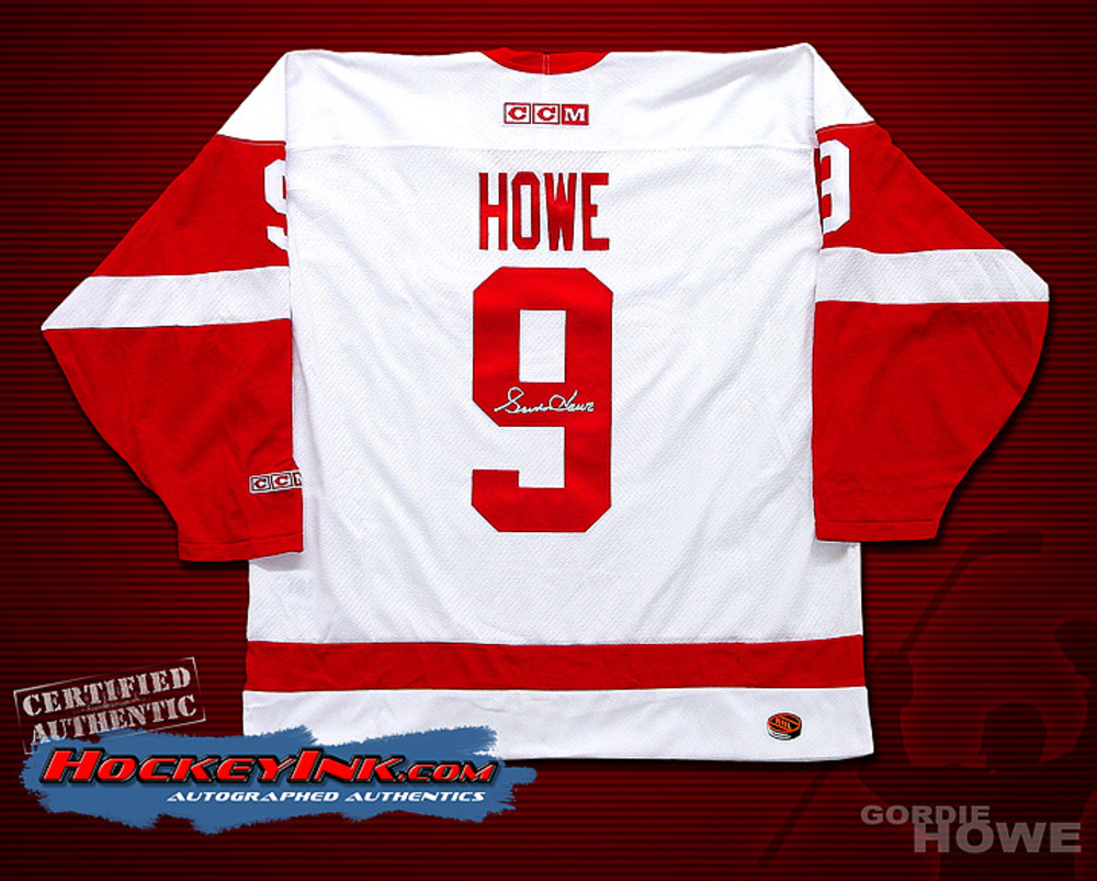 GORDIE HOWE Signed White Detroit Red Wings CCM Jersey