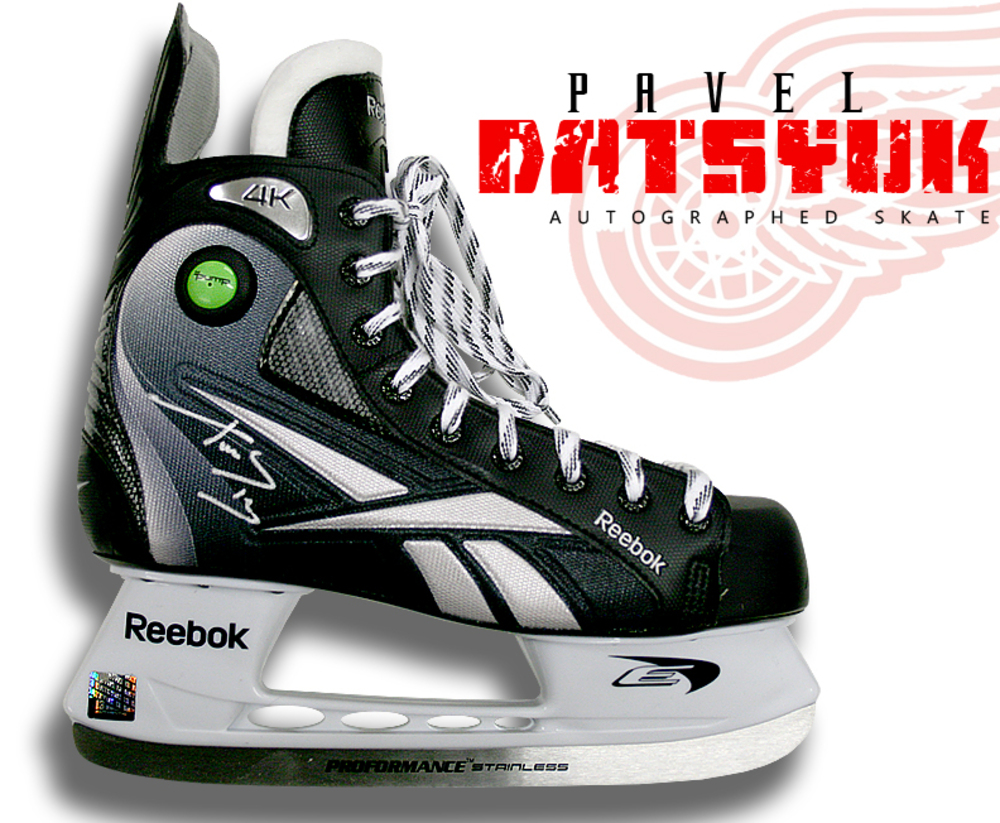 PAVEL DATSYUK Signed RBK Skate - Detroit Red Wings
