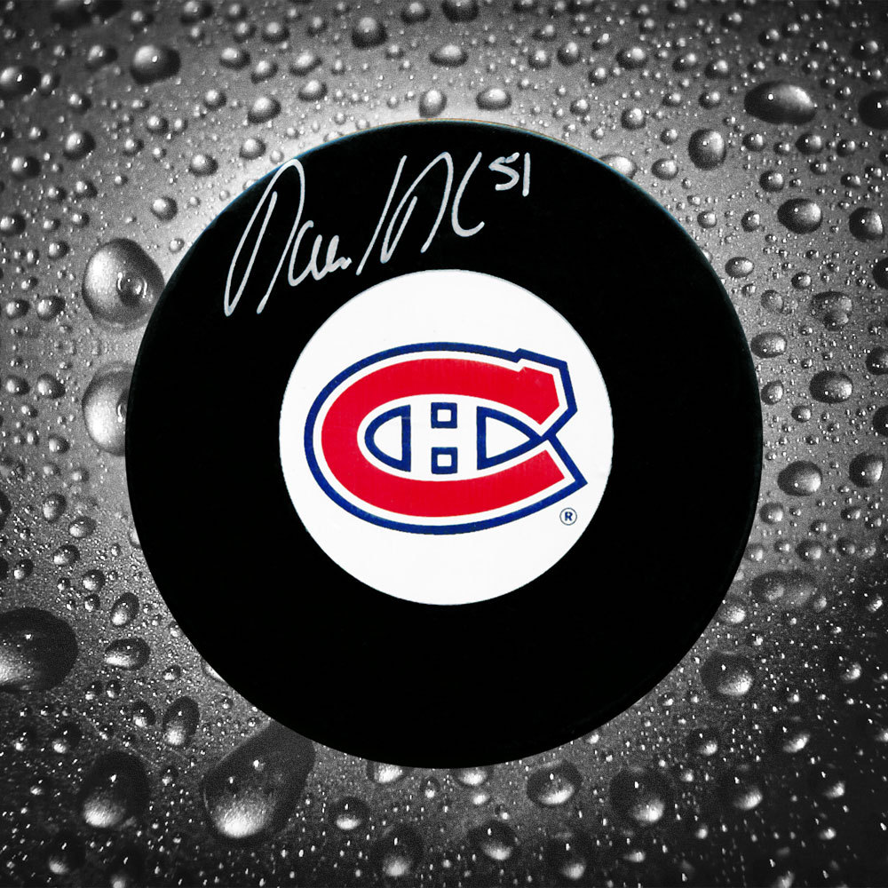 David Desharnais Montreal Canadiens Autographed Puck