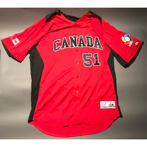 Photo of 2013 World Baseball Classic Jersey - Canada Jersey, Jimmy Henderson #51