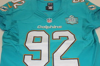 NFL - INTERNATIONAL SERIES - DOLPHINS JOHN DENNEY GAME WORN DOLPHINS JERSEY (OCTOBER 4 2015)