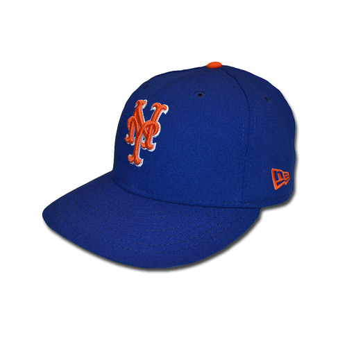 Photo of Kevin McGowan #61 - Game Used Blue Alternate Home Hat - Mets vs. Braves - 9/25/17