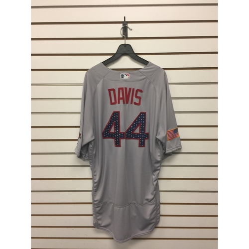 Chili Davis Game-Used July 4, 2017 Road Jersey