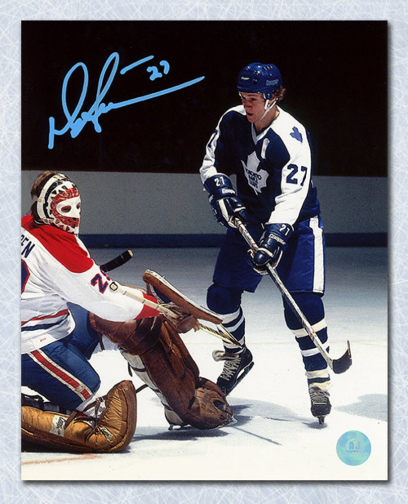 Darryl Sittler Toronto Maple Leafs Autographed Shooting on Dryden 8x10 Photo