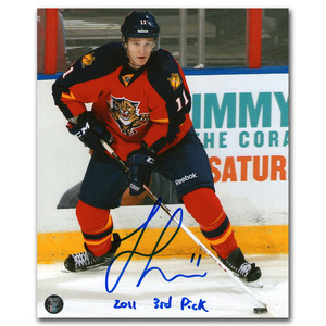 Jonathan Huberdeau Autographed Florida Panthers 8X10 Photo w/2011 3RD PICK Inscription