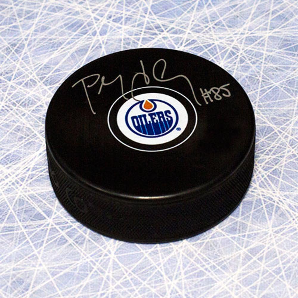 Petr Klima Edmonton Oilers Autographed Hockey Puck