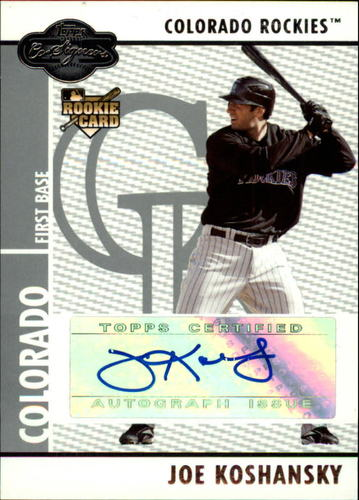 Photo of 2008 Topps Co-Signers #103 Joe Koshansky AU (RC)