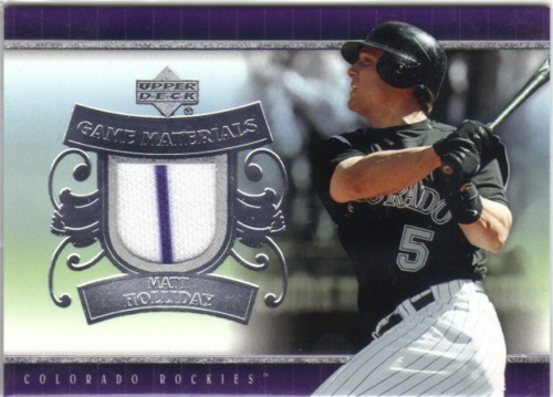 Photo of 2007 Upper Deck UD Game Materials #MH Matt Holliday Jsy S1
