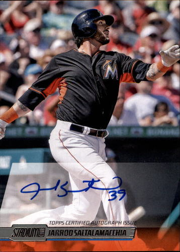Photo of 2014 Stadium Club Autographs #SCAJSA Jarrod Saltalamacchia