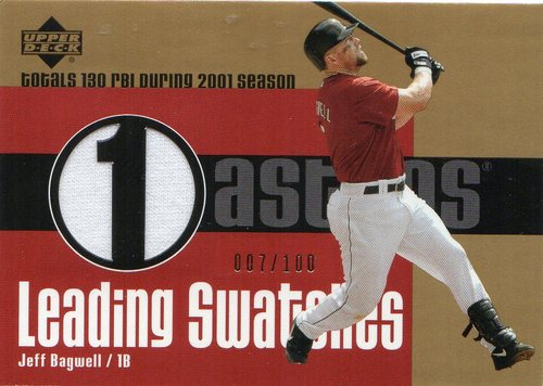 Photo of 2003 Upper Deck Leading Swatches Gold #JB Jeff Bagwell RBI