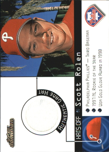 Photo of 2000 SkyBox Dominion Hats Off #13 Scott Rolen
