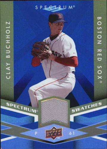 Photo of 2009 Upper Deck Spectrum Spectrum Swatches Blue #SSBZ Clay Buchholz