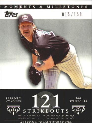 Photo of 2007 Topps Moments and Milestones #55-121 Randy Johnson/SO 121