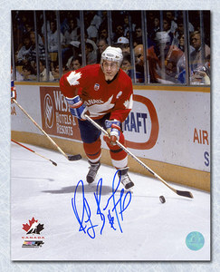Ray Bourque Team Canada Autographed Canada Cup 8x10 Photo