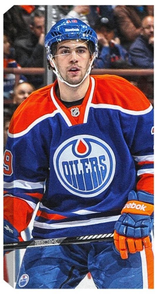 Justin Schultz - 14x28 Edmonton Oilers Dark Vertical Canvas