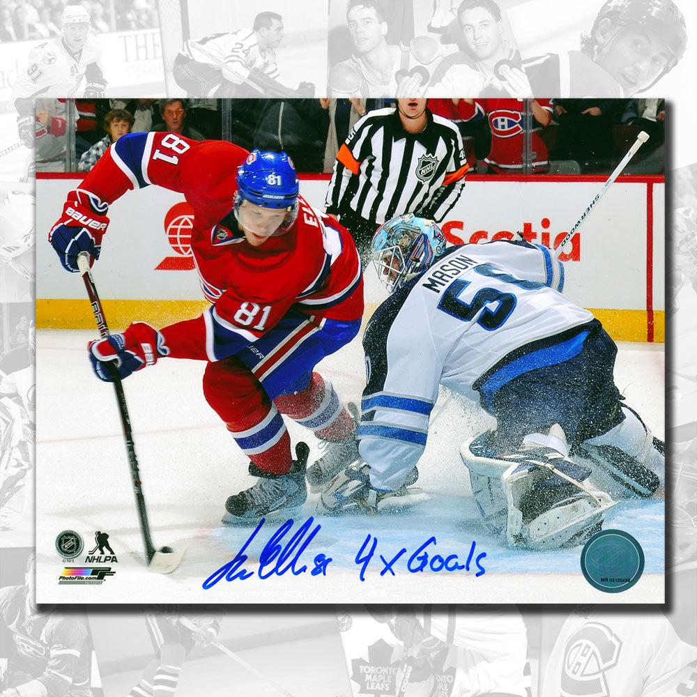 Lars Eller Montreal Canadiens 4 Goals Autographed 8x10