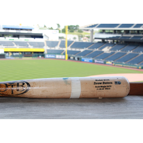 Photo of Game-Used Drew Butera Broken Bat (5/8/17 KC @ TB)