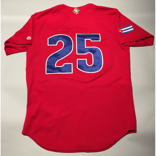 Photo of 2017 WBC: Cuba Game-Used Batting Practice Jersey, #25