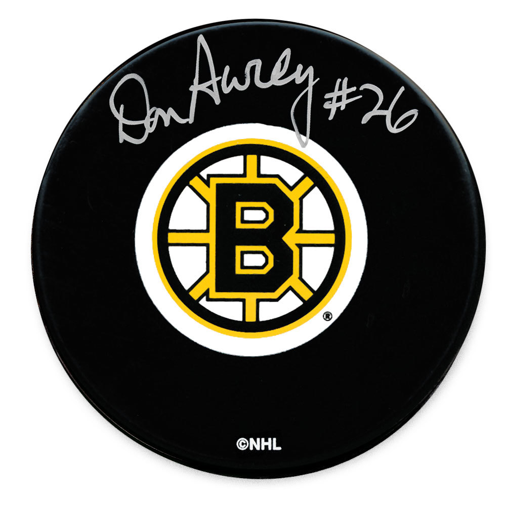 Don Awrey Boston Bruins Autographed Puck