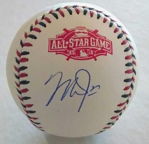 Photo of Mike Trout Autographed 2015 All-Star Game Baseball