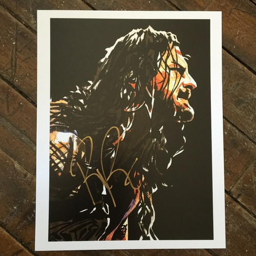 "Photo of Roman Reigns SIGNED 11"" x 14"" Rob Schamberger Print"