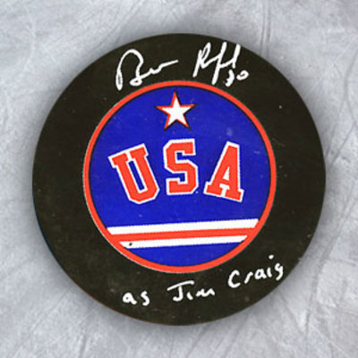 BILL RANFORD Team USA Autographed Hockey Puck