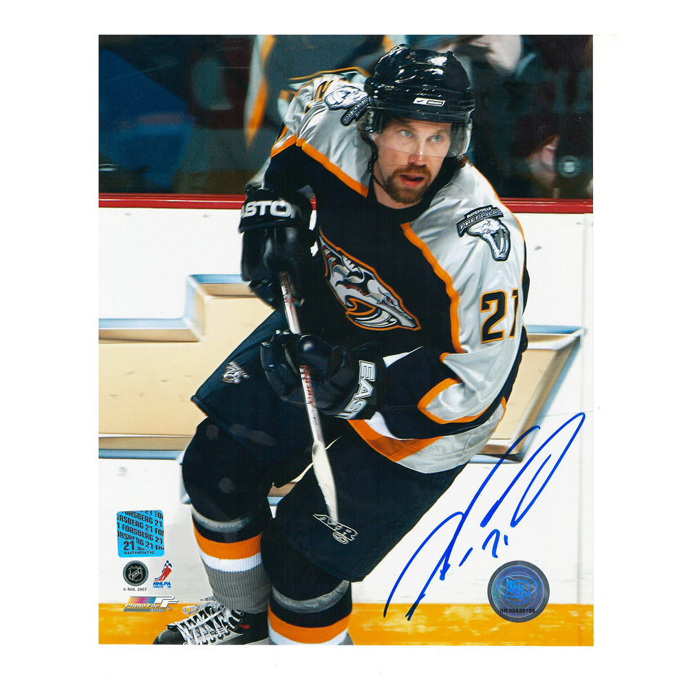 PETER FORSBERG Signed Nashville Predators 8 X 10 Photo - 70130