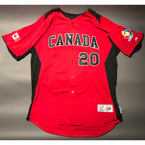 Photo of 2013 World Baseball Classic Jersey - Canada Jersey, Michael Saunders #20