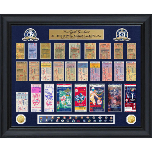 Photo of Serial #1! New York Yankees World Series Deluxe Gold Coin & Ticket Collection