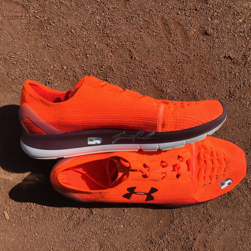 Photo of San Francisco Giants - Autographed Workout Shoes - Jarrett Parker