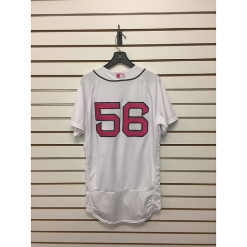 Photo of Joe Kelly Game-Used Mother's Day Home Jersey