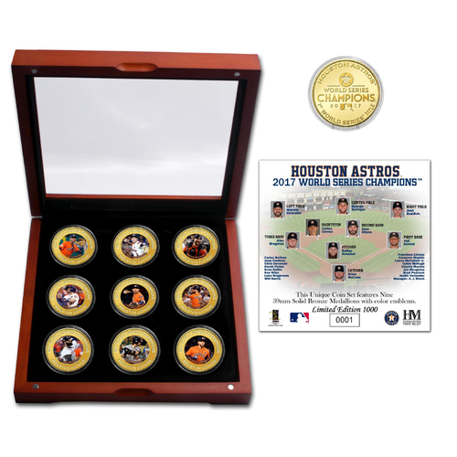 Photo of Serial #1! Houston Astros 2017 World Series Champions 9 Coin Set