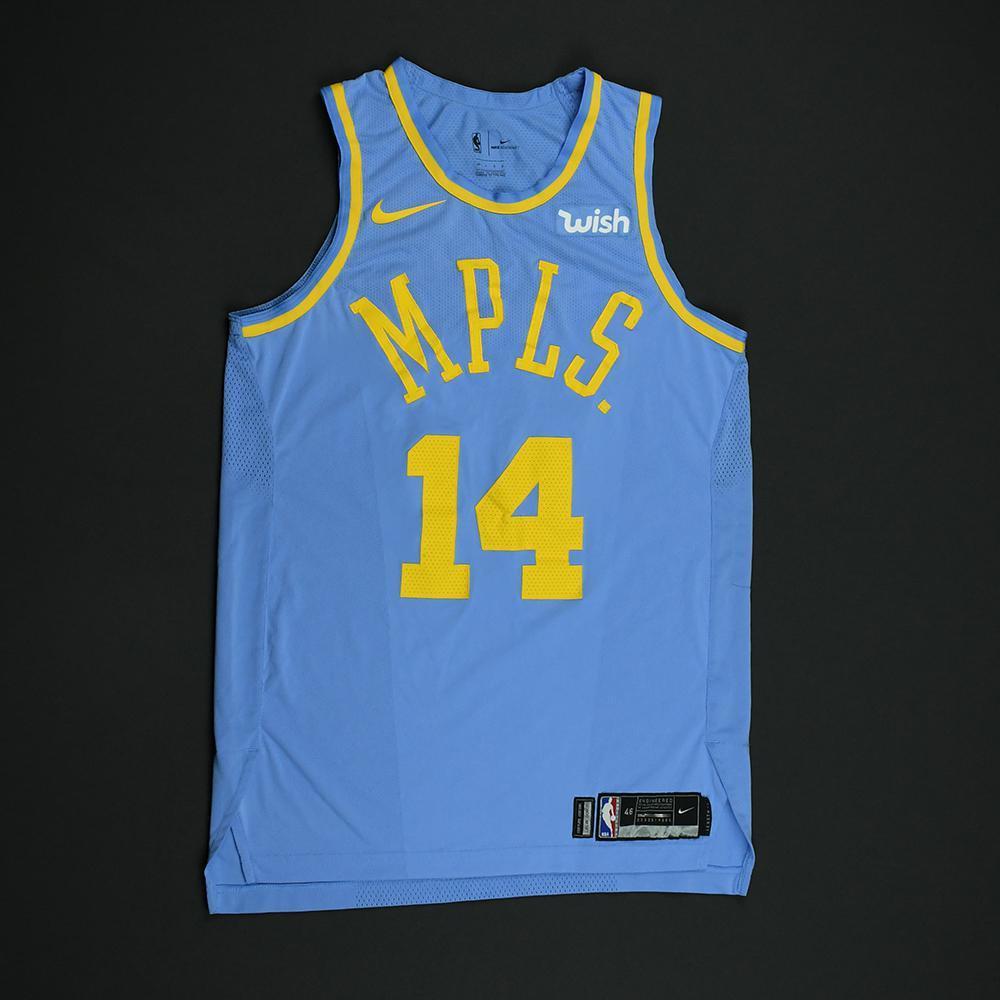 Brandon Ingram - Los Angeles Lakers - Game-Worn Classic Edition Minneapolis Lakers 1948-52 Road Jersey - 2017-18 Season