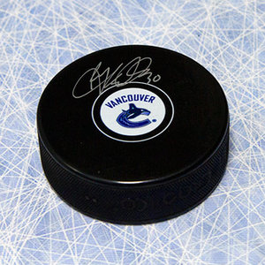 Ryan Miller Vancouver Canucks Autographed Hockey Puck