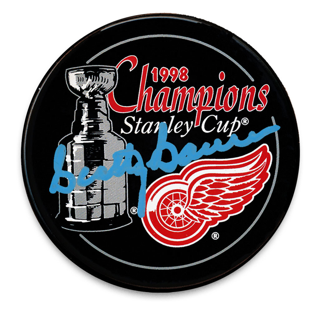 Scotty Bowman Detroit Red Wings 1998 Stanley Cup Champions Autographed Puck