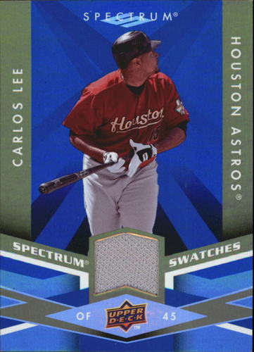 Photo of 2009 Upper Deck Spectrum Spectrum Swatches Blue #SSCL Carlos Lee