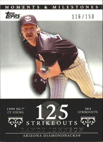 Photo of 2007 Topps Moments and Milestones #55-125 Randy Johnson/SO 125