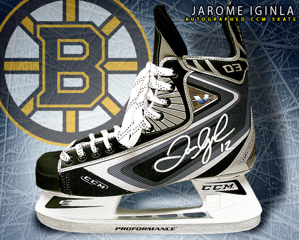 JAROME IGINLA Signed CCM Skate - Boston Bruins