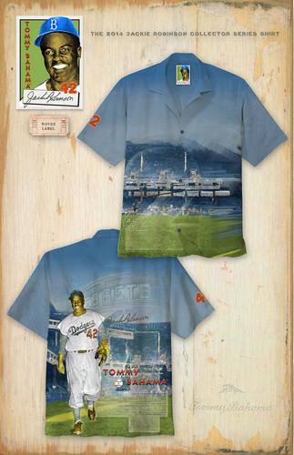 Autographed Tommy Bahama Jackie Robinson Shirt