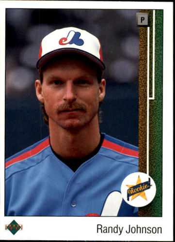 Photo of 1989 Upper Deck #25 Randy Johnson -- Montreal Expos rookie card