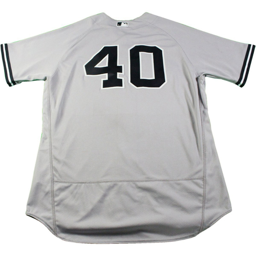 Photo of Luis Severino New York Yankees Game-Used  #40 Grey Jersey (5/19/2017) (Size 48)