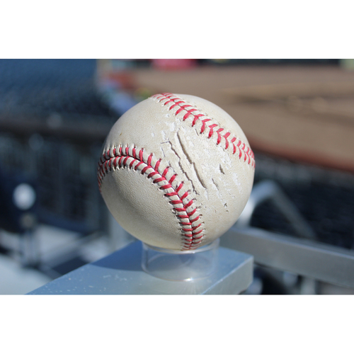 Photo of Game-Used Baseball: Chris Herrmann 147th Career Hit (ARI at KC - 10/1/17)