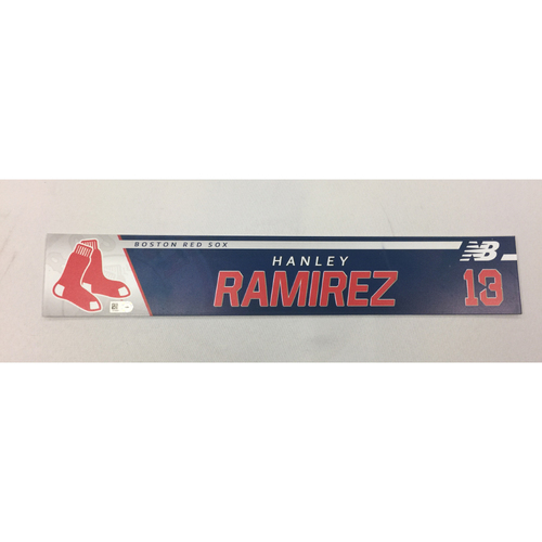 Photo of Hanley Ramirez May 24, 2017 Game-Used Locker Tag