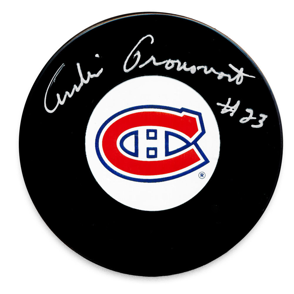 Andre Pronovost - Signed Puck Canadiens