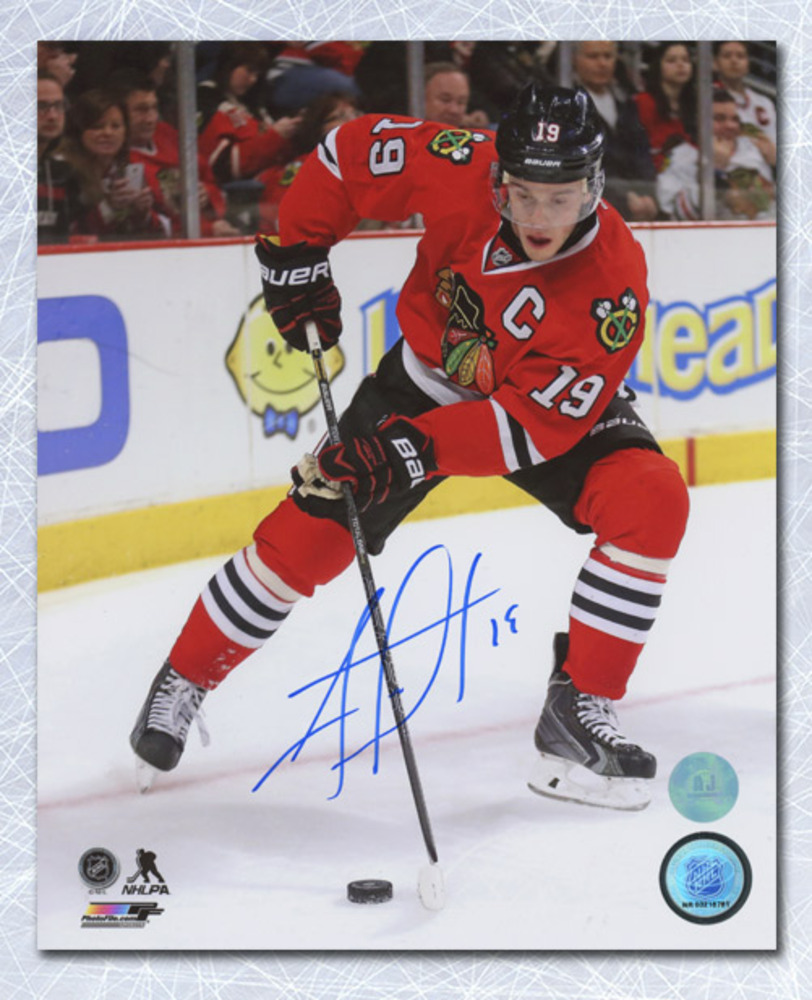 Jonathan Toews Chicago Blackhawks Autographed Playmaker 8x10 Photo