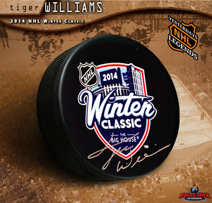 TIGER WILLIAMS Signed 2014 NHL Winter Classic Puck