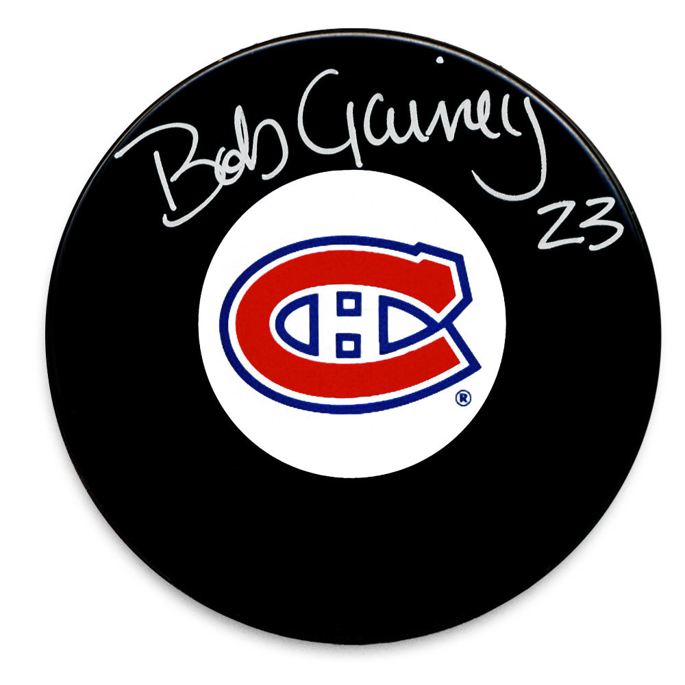 Bob Gainey Montreal Canadiens Autographed Puck